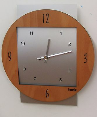 Contemporary Wood And Metal  Wall Clock Made By The Hermle Clock Co 30680-382100