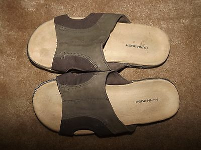 Nunn Bush Leather  Upper Brown Slide On Sandals Men's 12 Medium