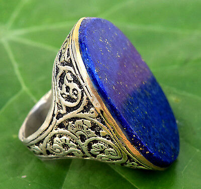 Vintage Handmade Lapis Ring Kuchi Tribal Afghan Antique Jewelry Ethnic Boho Chic