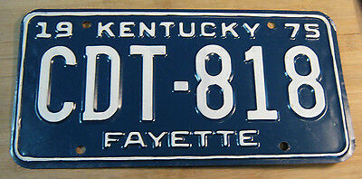 1975 Kentucky License Plate Expired Cdt 818