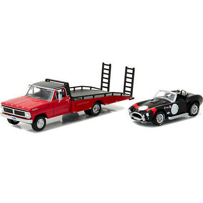 Greenlight 1970 Ford F-350 Ramp Truck and Shelby Cobra 427 1:64 33080-B