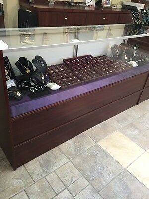 """Jewelry Watch Display Half Vision Showcase 70"""" Cherry Finish (6)  USED $150 each"""