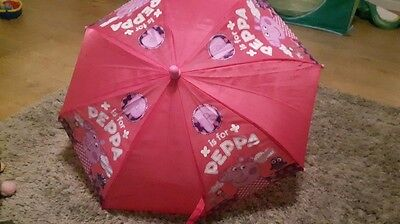 Girls Peppa Pig Rocks Novelty Character Umbrella