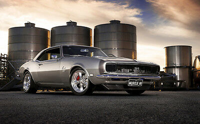 "GORGEOUS OLD CHEVROLET CAMARO A4 POSTER GLOSS PRINT LAMINATED 11.7"" x 7.3"""