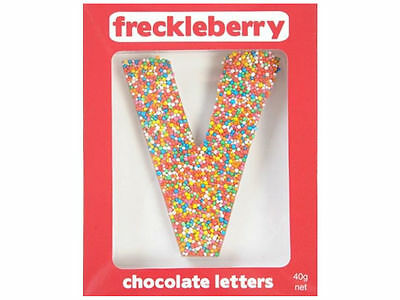 Letter V Chocolate Freckle Letter New Great Unique Gift Present Birthday