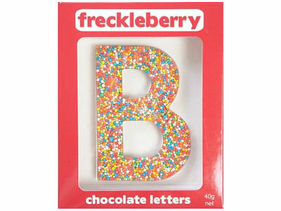 Letter B Chocolate Freckle Letter New Great Unique Gift Present Birthday