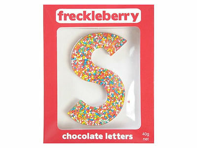 Letter S Chocolate Freckle Letter New Great Unique Gift Present Birthday