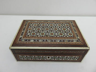 Antique anglo Indian wooden carved sadeli trinket jewellery box
