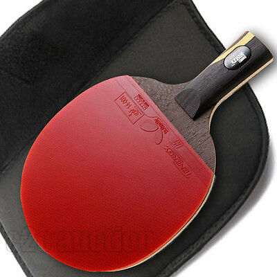 Double Happiness Table Tennis Hurricane Wang Racket Ping Pong Paddle Short Grip