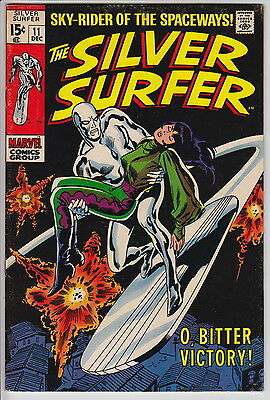 The Silver Surfer #11 (Dec 1969, Marvel) Unrestored 5.0 Off-White Pages