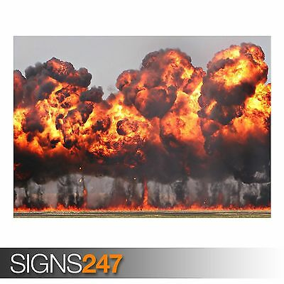 Photo Picture Poster Print Art A0 to A4 ARMY POSTER NUCLEAR EXPLOSION AC334