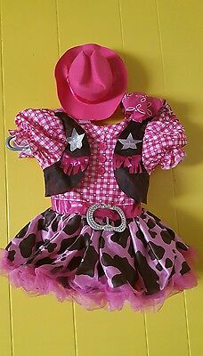 Pink Rodeo Princess Costume Goodmark Girls Infant Toddler Cowgirl Size 2T
