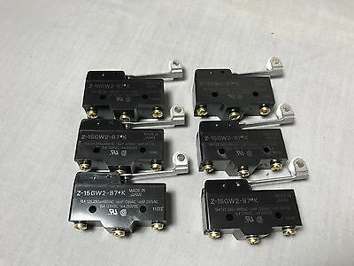 LOT (6) OMRON Z-15GW2-B7 K Snap Switch Roller Arm Microswitch Limit Switches