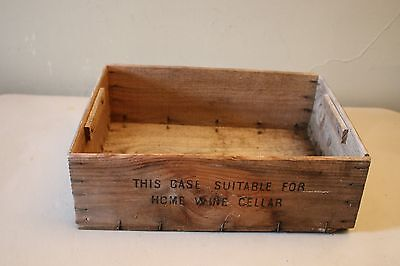 Vintage Wooden Red Bordeaux Wine Box Crate