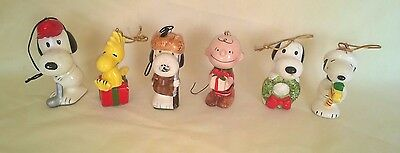 Vintage Peanuts Snoopy Woodstock United Features Synd. Christmas Ornaments