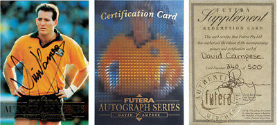 1995 David Campese Australia Rugby Signature Redemption Card