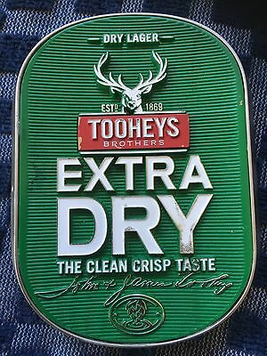 Tooheys Extra Dry Beer Tap Badge 2, Top, Decal Great Condition