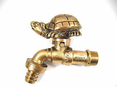 Faucet Brass 1/2 Water Tap Wall Antique Turtle Spigot Retro Vintage Outdoor