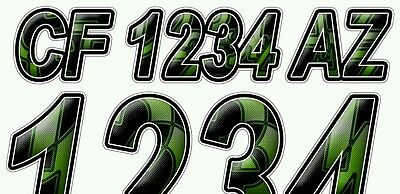 Techno 2 Custom Boat Registration Numbers Decals Vinyl Lettering  Stickers USCG