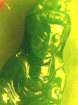 100% Natural green Jade  Guanyin statue/Pendant necklace green