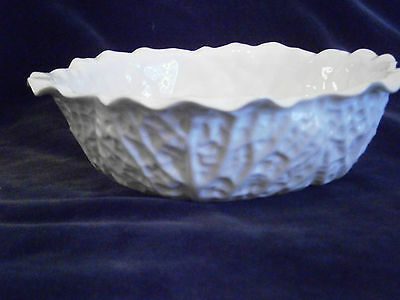 Copeland Spode Country ware white Cabbage leaf design bowl lot 2