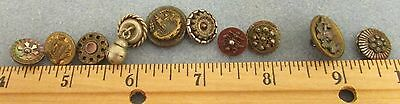 Antique/vintage/victorian Lot Of Metal Buttons (Picture, Mop,other)