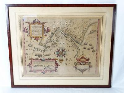 Colored Engraved Early Map of the Straits of Magellan by Gerard Mercator Lot 64