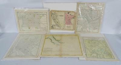 Lot of (6) Mid-Late 1800s Colored Engraved Maps (Sacramento, Nashville... Lot 62