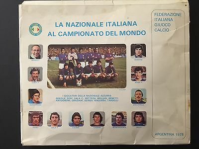 World Cup Argentina 78. Italy. Tie, flag and photo. New
