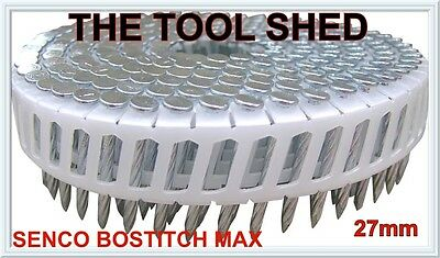 Bostitch Coil Nail Helical Shank Hardened 27X2.50 Gal-6000/bx Senco,Max RRP$110