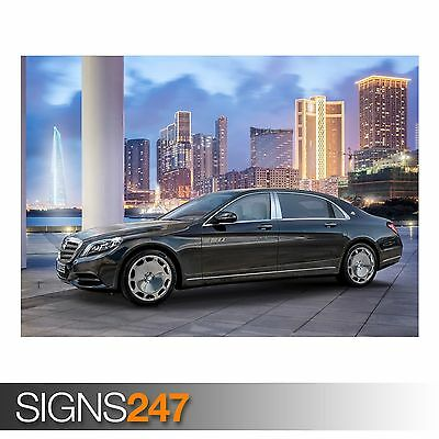 AB501 MAYBACH IN MOSCOW CAR POSTER Photo Picture Poster Print Art A0 to A4