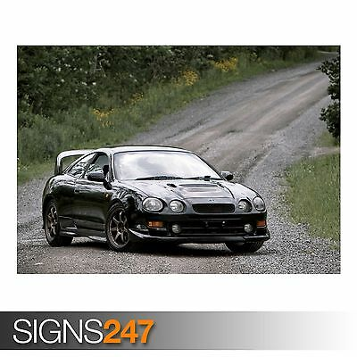 A3 Toyota Celica Turbo 4WD Group А Cutaway Drawing Wall Poster Art Picture Print