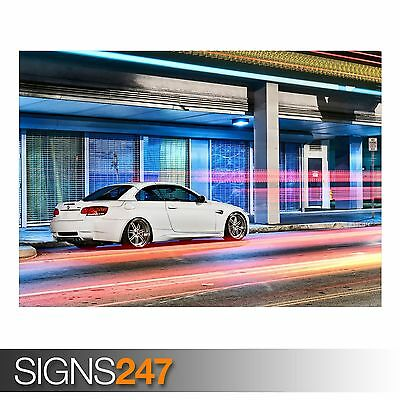 AA154 CAR POSTER BMW E92 M3 Photo Picture Poster Print Art A0 A1 A2 A3 A4