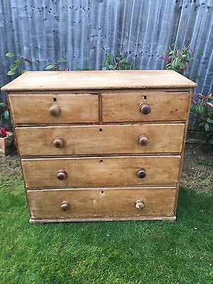 antique pine chest of drawers