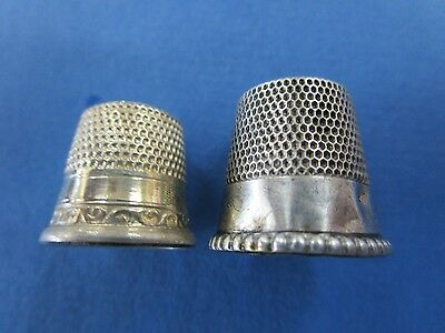 2 x Sterling Silver Vintage Thimbles