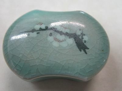 Vintage Asian Signed Ceramic Trinket Box