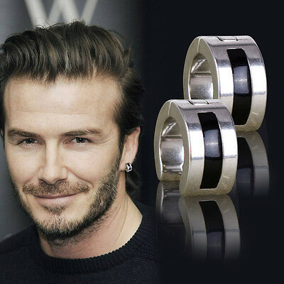 Fashion Men Metallic/Punk Cuff Pieced Earrings Silvery Stainless Steel