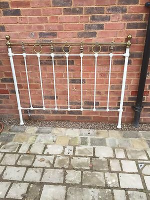 Antique Brass & Iron Double Bedstead End