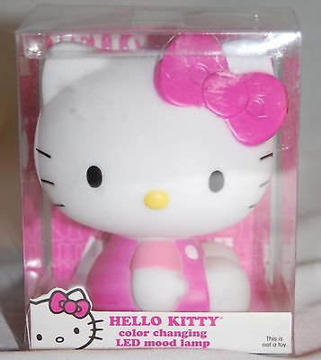 """Hello Kitty Color Changing Led Mood Lamp Night Light """"cute"""""""