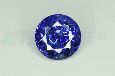 Ceylon Blue Sapphire Round 6mm 1.32ct Loose Natural Gemstone Sri Lanka