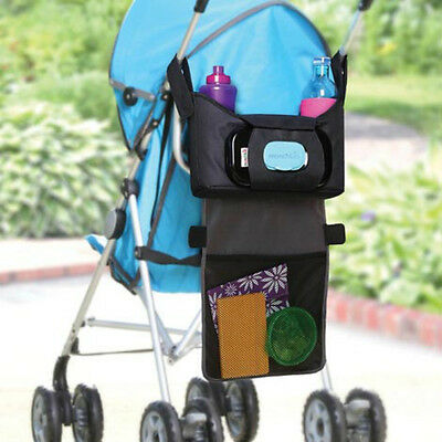 Pram/Pushchair/Buggy/Stroller Cup/Bottle/Drinks Tidy Storage Basket Organiser