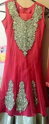 Girls churidar anarkali suit size 32 EID PARTYWEAR **REDUCED SO NO MORE OFFERS**