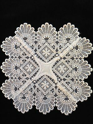 "White Hand Crocheted Large Doiley / Doily / Doilie Table Centre 8.5"" 22Cm"