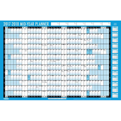 A2 2017-2018 Academic Year Student Wall Planner Calendar Pen Stickers