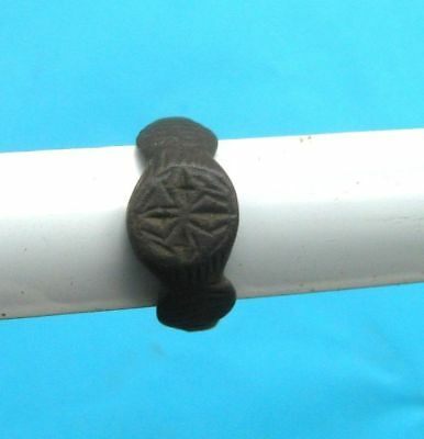 Ancient medieval bronze ring(100)