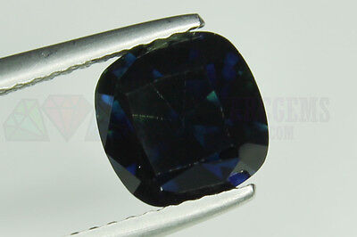 Big Blue Parti Sapphire 2.71ct VS Cushion cut 7.5x7.5mm Loose Natural Gemstone