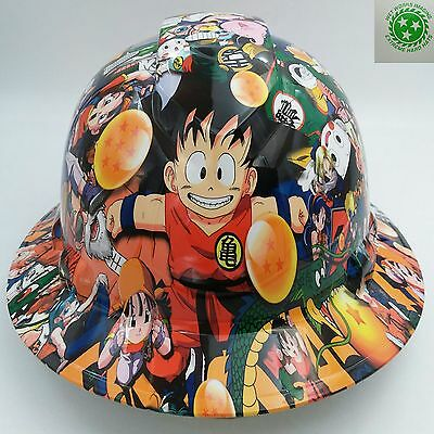 FULL BRIM HARD Hat custom hydro dipped , NEW DRAGON BALL Z HOT NEW PYRAMEX