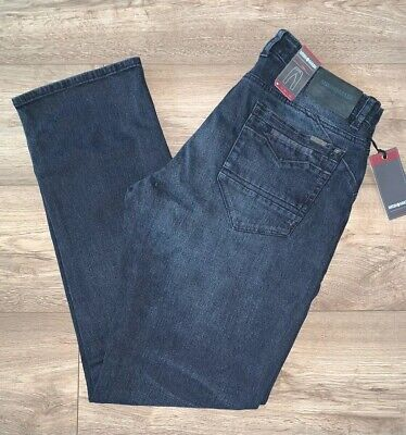 Mish Mash Sign Blue Black 1987 Straight Fit Jeans £25.99 rrp £65**Free Postage**