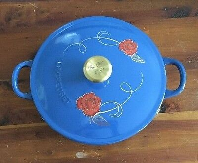 "LE CREUSET ""Disney: Beauty & The Beast"" Soup Pot LIMITED EDITION ~ NEW ~ WOW!"