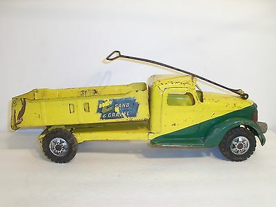 Buddy L Sand And Gravel Ride On Dump Truck    Buddy L  Ride On  Pressed Steel